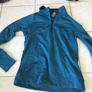 blue heather athletic jacket by PINK never worn